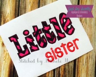 Little Sister Applique Design - Embroidery Machine Pattern