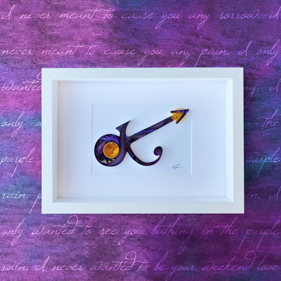 Purple Rain Quilling Art - Gift for Musician, Paper Anniversary, Gift for  him, Boyfriend/Husband gift, Prince GuitarChristmas Gift