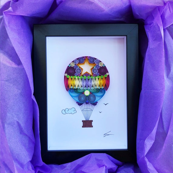 I Believe I Can Fly Quilling Art Hot Air Balloon Handmade Etsy
