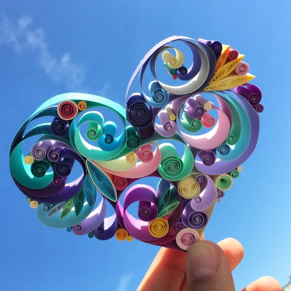 Love Is All Around Quilling Art Unique Gift For Anniversary Etsy