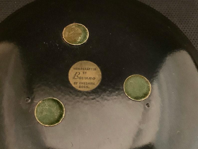 Free Shipping. Bovano Mid-Century Copper Enameled Ashtray-6 Inches Across