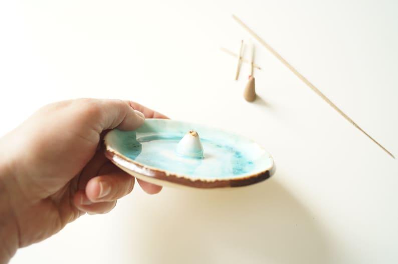 Aromatherapy Incense Stick Holder Ceramic Incense Cone Burner Yoga Practice