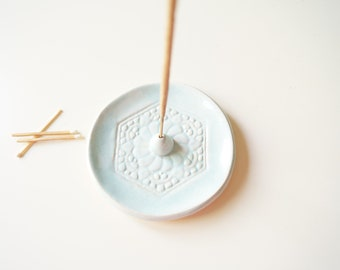 Pale Blue Incense Holder, Aromatherapy