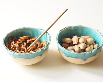 Ceramic Bowls, Set of 2, Snack Bowl, Tapas Bowl, Candy & Nuts Ceramic Bowl