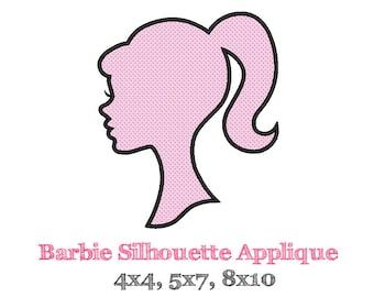 BARBIE SILHOUETTE Applique Design