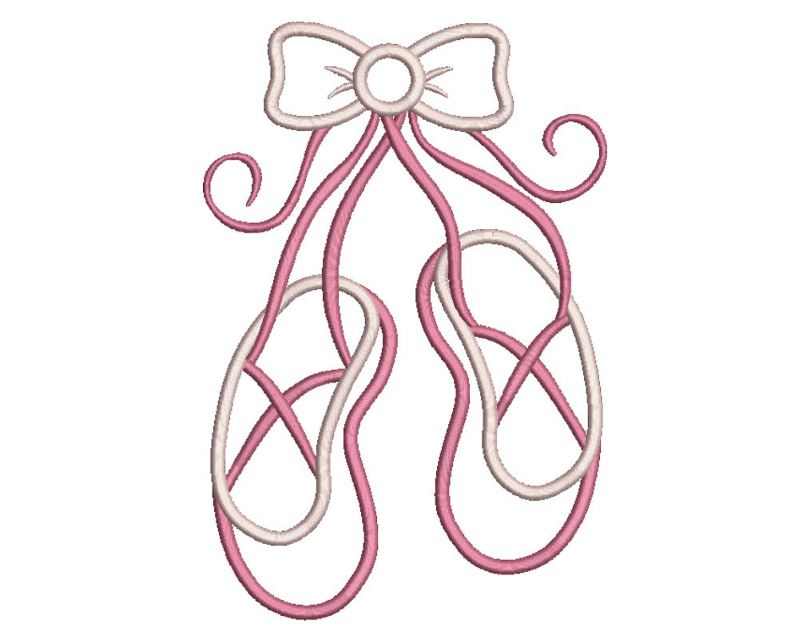 ballet shoes applique design - machine embroidery - instant download - 4x4, 5x7, 6x10, 8x12
