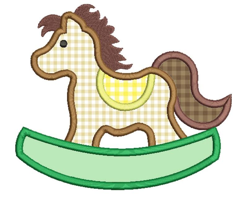 Cavallo A Dondolo Design.Cavallo A Dondolo Applique Design Macchina Ricamo Diverse Dimensioni Download Digitale