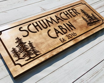 Wooden Camp Signs Etsy
