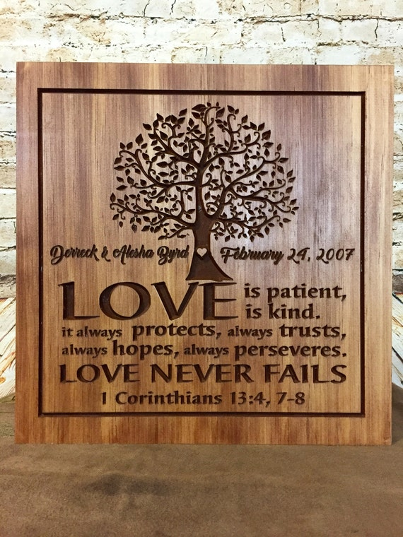 5th anniversary gift personalized wooden sign carved plaque etsy