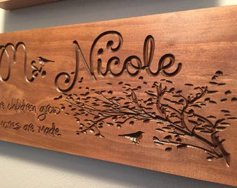 Babysitter Gifts, Daycare Providers, Teacher Gifts Plaques for Nannys Personalized Wooden Signs for Child Care Providers Homeroom Teacher