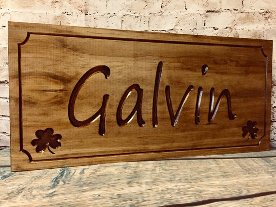Shamrock 4 Leaf Clover Personalized Wood Sign Wooden Name Etsy