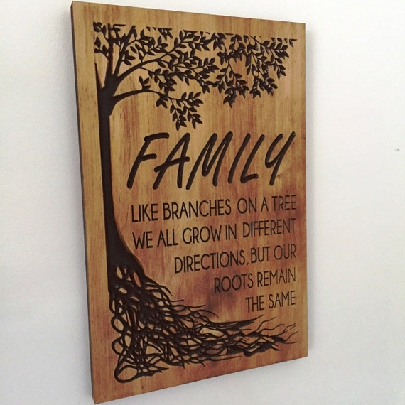 Wooden Wall Art Carved Family Tree Sign Fathers Day Gift Ideas Welcome Sign Reunion Anniversary Wedding Gifts Best Shower Gift Grandparents