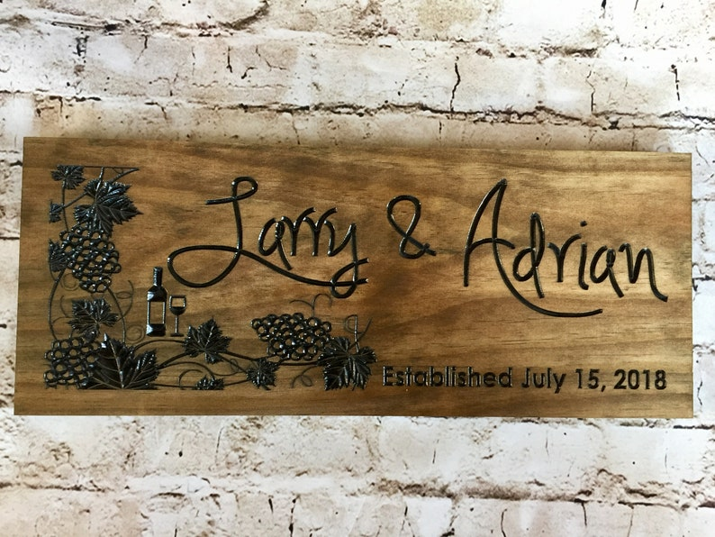c82ab18a Personalized Anniversary Gift Vineyards Wooden Sign Wine theme | Etsy