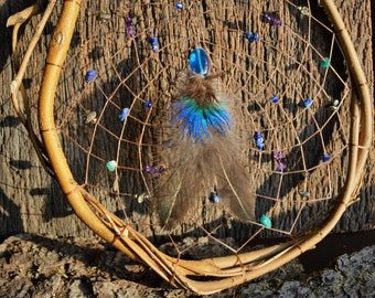 Large Natural Wood Dreamcatcher, Rustic, Native American Wall Hanging, Earthy Window Decoration, Wooden Home Decor from The Hidden Meadow