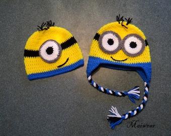 Crochet Minion Hat inspired