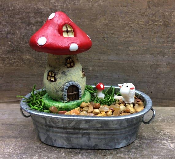 DIY Fairy Garden Mini Garden Mushroom House And Sheep Kids | Etsy
