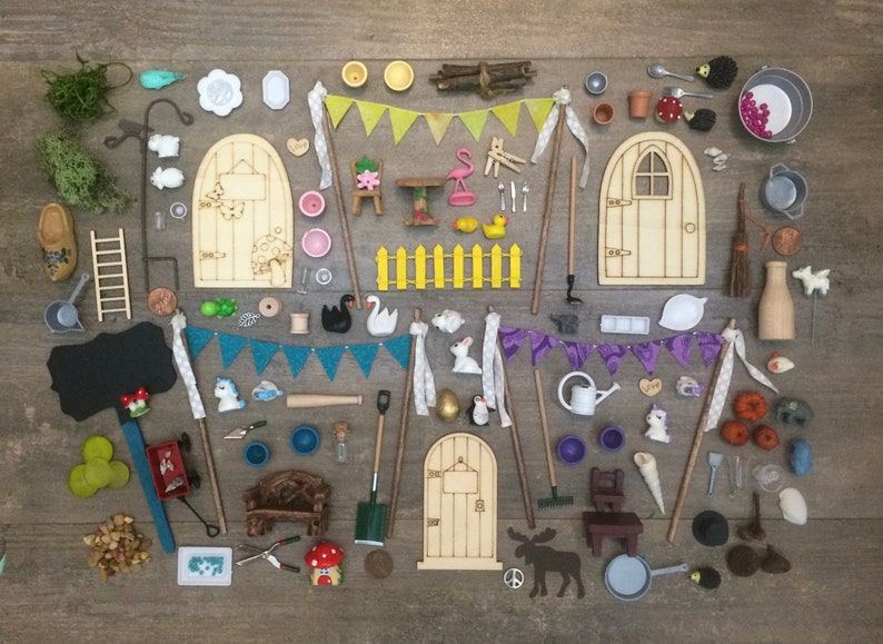 DIY Fairy Garden Accessories Grab Bag Kids craft Fairy image 0
