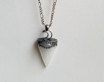 Crystal Labradorite Necklace, Raw Quartz Necklace, Raw Crystal Necklace, Bridesmaid Gift, Natural Stone Crystal, Dainty Necklace