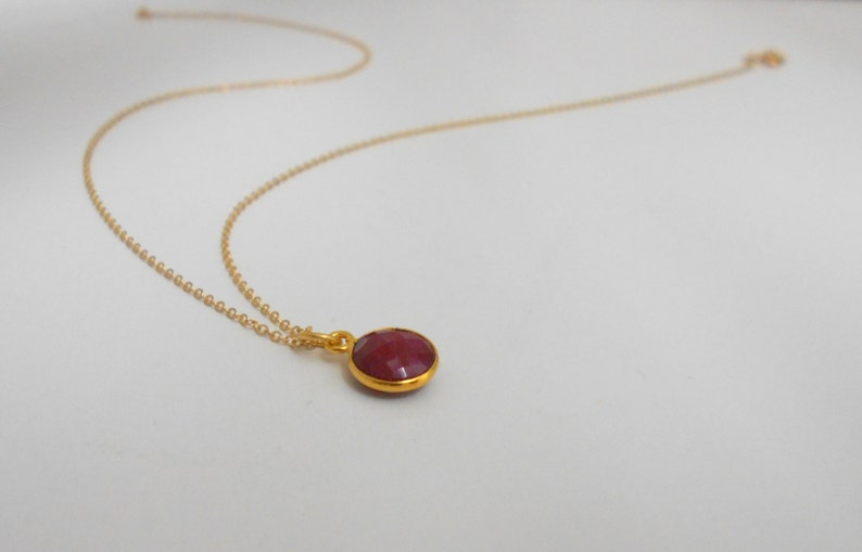 Gift for Her Natural Ruby Valentine Gift Ruby Necklace Birthstone Bridesmaid gift Raw Ruby Necklace Necklace Healing Crystal Stone