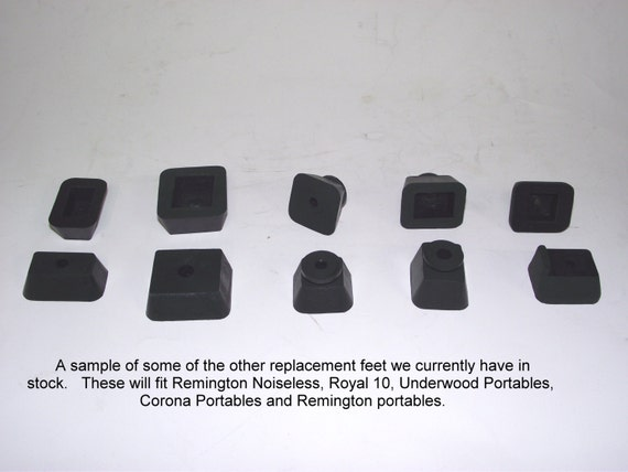 Typewriter Repair  New Replacement Rubber Feet for 1930s Smith Corona Portable