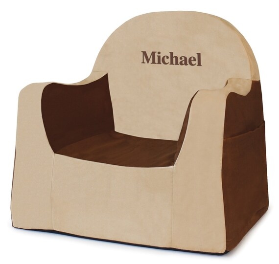 Brilliant Pkolino Personalized New Little Reader Toddler Chair Brown Tan Theyellowbook Wood Chair Design Ideas Theyellowbookinfo