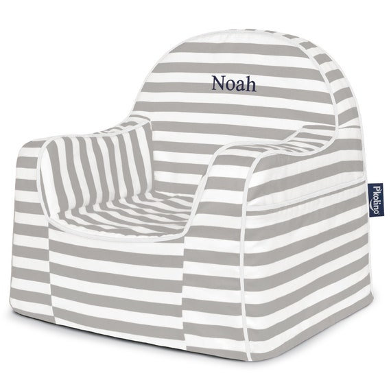 Marvelous Pkolino Personalized Stripes Little Reader Toddler Chair Theyellowbook Wood Chair Design Ideas Theyellowbookinfo