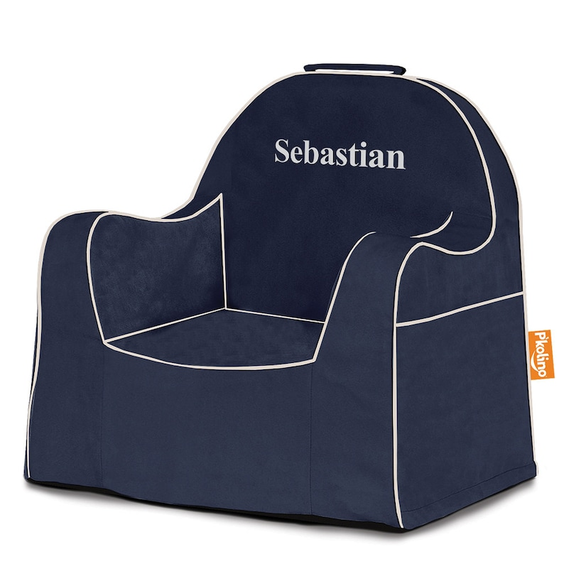 P'kolino Personalized Solid Little Reader Chair Navy
