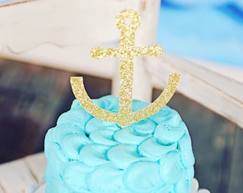 Anchor Cake Topper, nautical cake topper, pirate cake topper, boat cake topper, smashcake topper, cake topper, birthday cake topper