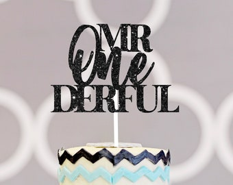 Mr. onederful cake topper, one-derful cake topper, smash cake topper, onederful caketopper,, one cake topper, first birthday cake topper