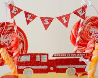 Fire Engine Cake Topper, Fire Truck Cake Topper, Fire Fighter Cake Topper, birthday cake topper