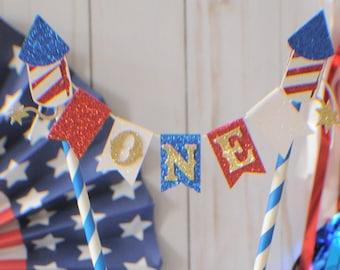 4th of July cake topper, America Cake topper, Independence day cake topper, First Birthday cake topper, smashcake topper