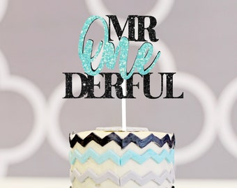 Mr. onederful cake topper, one-derful cake topper, smash cake topper, onederful caketopper, one cake topper, first birthday cake topper