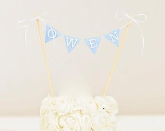 Custom Cake banner with name, smash cake topper, cake topper, first birthday cake topper