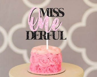 Miss onederful cake topper, one-derful cake topper, smash cake topper, onederful caketopper, one cake topper, first birthday cake topper,
