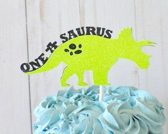 Dinosaur Cake Topper, Custom Dinosaur Cake Topper, T-rex Cake Topper, one a saurus cake topper, dino party, dinosaur party,