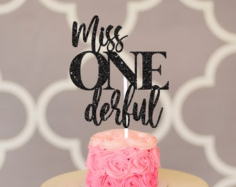 Miss. onederful cake topper, one-derful cake topper, smash cake topper, onederful caketopper, one cake topper, first birthday cake topper