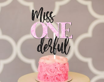 Miss onederful cake topper, one-derful cake topper, smash cake topper, onederful caketoppe, one cake topper, first birthday cake topper,