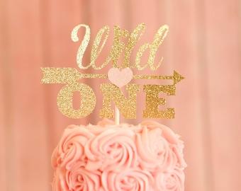 Wild one cake topper, one cake topper, boho cake topper, arrow caketopper, birthday cake topper, cake topper, smashcake topper