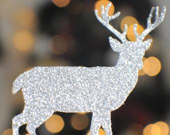 Deer Cupcake topper, buck cupcake topper, rudolph cupcake topper, christmas cupcake topper