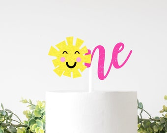 Sunshine Cake Topper, sun one cake topper, summer cake topper, summer party, Sun cake topper, sunshine party, first birthday cake topper