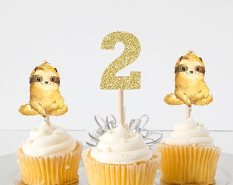 Sloth cake topper, Sloth topper, Sloth party, cake topper, babyshower cake topper, smashcake topper, birthday cake topper