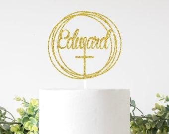 Baptism cake toper, Holy communion cake topper, Christening cake topper, Christening, Communion