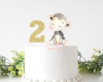 Opossum cake topper, opossum topper, Opossum party, cake topper, babyshower, smashcake topper, birthday cake topper