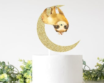 Sloth cake topper, Sleepy sloth cake topper, Sloth party, cake topper, babyshower cake topper, smashcake topper, birthday cake topper