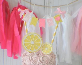 Lemonade Stand Cake Topper, lemonade cake topper, lemonade party, lemon cake topper, tutti frutti cake topper