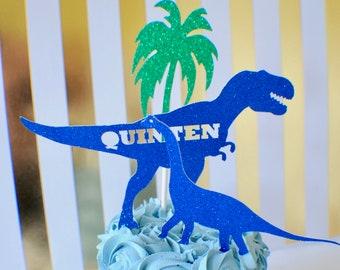 Dinosaur Cake Topper, Custom Dinosaur Cake Topper, T-rex Cake Topper, dino party