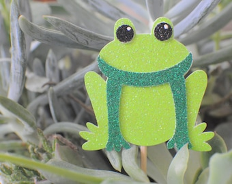 frog cupcake toper12 toppers)