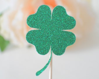 shamrock cupcake toppers, clover, st . Patrick' day cupcake toppers, clover cupcake topper, cup caketopper, lucky cupcake topper,