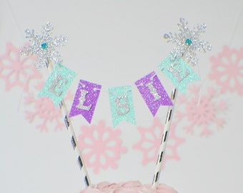 snowflake cake topper, One cake topper, Winter Wonderland cake topper, smashcake topper, winter wonderland party. ice queen cake topper