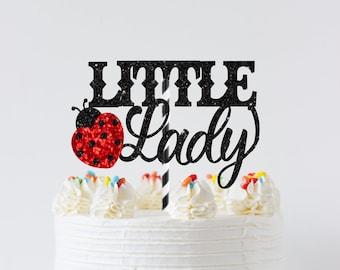 Ladybug cake topper, ladybug topper, Little lady cake topper, Birthday cake topper, Ladybug baby shower cake topper, smashcake topper